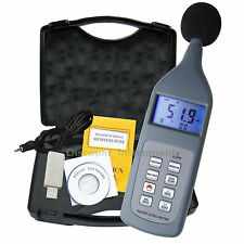 SL5868P Digital Sound Level Meter Datalogger 30~130 dB Decibel USB w/ Software