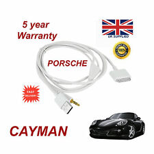 PORSCHE CAYMAN CDR-31 Audio System iPhone 3GS 4 4S iPod USB & Aux Cable white
