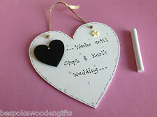Wedding Countdown Personalised Plaque Sign Chalkboard Engagement Gift Present