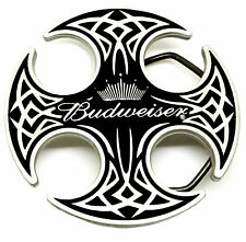 Budweiser Belt Buckle Black Celtic Shield & Crown Authentic Officially Licensed