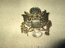 Military Hat Badge US Army Military Cap Pin Gold In Color Excellent Condition