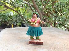 "Dashboard Hula Girl Sweet Wahine 4"" Hawaii Bobblehead Doll Surf Dance New #40667"