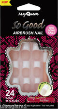 24pk May Queen SO COOL- LONG CLASSIC FRENCH/ GLUE-ON/ FULL ACRYLIC NAILS/DRAG