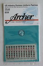 Archer 1/35 US 2.,5.,7.,27.,32.,34. and 43. Infantry Division Patches FG35028