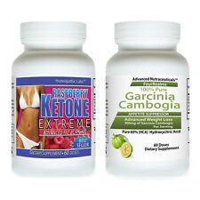 #1 Fat Weight Loss GARCINIA CAMBOGIA EXTRACT + RASPBERRY KETONE EXTREME PURE