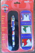 Coca Cola Collectible~Roller Ball Pen~Ceramic~Gift tin~NIP ~Pentech c1995