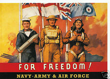 Robert Opie Advertising Postcard - For Freedom, Navy, Army & Air Force    BT791