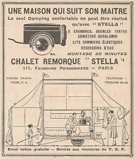 Z9205 Chalet Remorque STELLA -  Pubblicità d'epoca - 1929 Old advertising