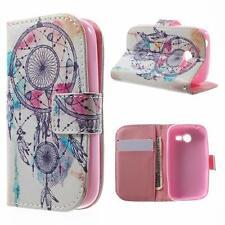 Schutz Tasche Hülle Flip Cover für Samsung Galaxy Pocket 2 TRAUMFÄNGER BUNT 10A
