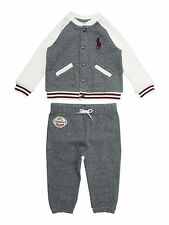 Baby Boys Polo Ralph Lauren Baseball Tracksuit Top and Jogging Bottoms - 9m
