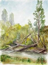 Original watercolor painting/sketch of an Australian landscape