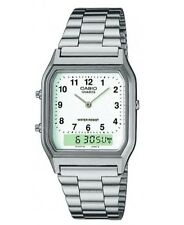 Casio Men's Analogue & Digital Watch, Silver/White, AQ-230A-7BMQ