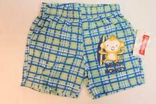NEW Baby Boys Swim Suit Trunks Shorts 18 Months Lined Beach Monkey Green Blue