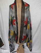 EX WIDE SCARF STOLE WRAP SHAWL SARONG SHRUG 100% VISCOSE VOILE FESTIVAL HOLIDAY