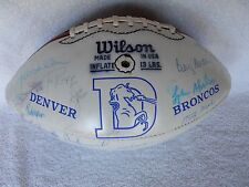 Authentic Denver Broncos autographed 1977 Super Bowl AFC Champion NFL football