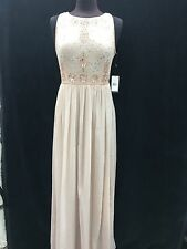 ADRIANNA PAPELL LONG GOWN/NEW WITH TAG/RETAIL$198/BLUSH/SIZE 2/