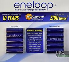 10-Pack Panasonic Eneloop AA 2000mAh 2100 Cycle Ni-MH Pre-Charged Rechargeable