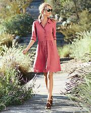 Eileen Fisher Stretch Linen  Shirt dress Dress M $308