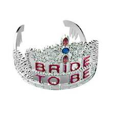 Bride To Be Tiara Plastic Crown Wedding Bridal Shower Bachelorette Party NEW