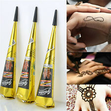 1pcs Body Art Paint Temporary Tattoo Kit Natural Herbal Henna Cones Mehandi DSUK