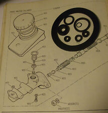 TRIUMPH TR5 TR6 TANDEM BRAKE MASTER CYLINDER REPAIR SEALS KIT