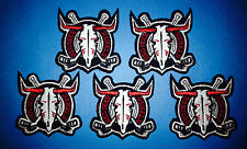 5 Lot Red Deer Rebels WHL CHL Hockey Iron On Hat Jacket Shirt Hoodie Patches