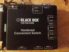 Black Box Hardened Convenient Switch 4 Port 24VDC Din Rail mount add ethernet
