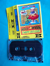 ►►Rare Polish cassette Helloween I want out live Poland