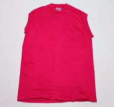 Lot of 19 L * NOS thin vtg 80s blank HOT PINK Hanes muscle t shirt * HHP1