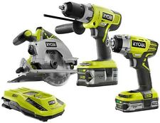 Ryobi ONE+ 18-Volt Lithium-Ion Cordless Power Tool Drill/Saw/Driver Kit (3-Tool)