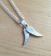 DOUBLE ANGEL WINGS PENDANT NECKLACE JEWELLERY HEALING REIKI GIFT NEW AGE