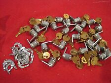 Lot of 25 Keyed Cabinet Cam Locks all keyed the same( 2 keys with every lock)