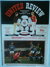 MINT 1983/84 Manchester United v Tottenham Hotspur 1st Division with Token