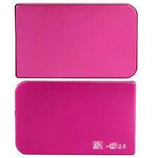Caja Externa USB Carcasa para Disco Duro 2,5 SATA Externo Rosa con Funda