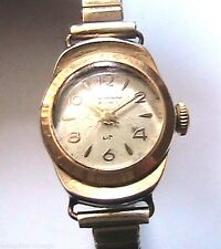 LIP 1940s WOMAN GOLD PLATED DAUPHINE WRISTWATCH - MADE IN FRANCE - WORKS FINE