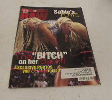 June 1998 WWF World Wrestling Federation Raw Magazine Sables Fury Cover Issue