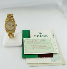 RARE MENS ROLEX PRESIDENT VINTAGE 1967 DAY DATE 18K GOLD WATCH 36mm 1807 PAPER