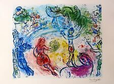 "MARC CHAGALL ""LE CIRQUE"" Facsimile Signed & Numbered Lithograph"