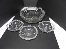 Ohio Flint Glass Krys-Tol Colonial 1776 Berry Bowl Set Clear Crystal  ca1905