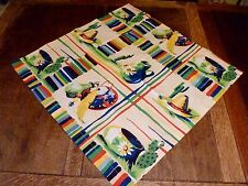 "NOS 24"" WILENDUR Fiesta SOUTHWEST TEX-MEX Mexican TABLE TOPPER Cotton TABLECLOTH"