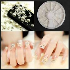 DIY Manicure Pearl Acrylic 3D Glitter Nail Art Tips
