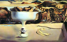 Framed Print - Salvador Dali Face & Fruit on the Beach (Replica Picture Poster)