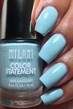 NEW! Milani Color Statement Nail Polish in MINT CRUSH #19 Pastel Blue Creme