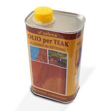 Olio per teak e legno da esterno lucida protegge manutenzione mobili restauro