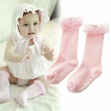 2-4Years Baby Girl Soft Cotton Warm Socks Knee High Tight Hosiery Stockings Pink