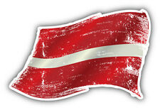 Latvia Grunge Flag Car Bumper Sticker Decal 5'' x 3''