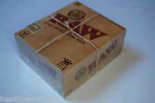 1 Box (50x) - RAW KS King Size Slim Papers Blättchen unbleached Booklets