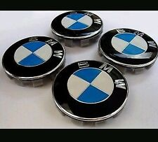 X4 BMW ALLOY WHEEL CENTRE CAPS EMBLEMS 68MM FITS 1 2 4 3 5 7 SERIES VEHICLES