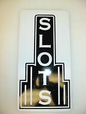 SLOTS Vintage Style Metal Art Deco Sign 4 Home Casino Game Room Bar Man Cave