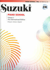 SUZUKI PIANO SCHOOL  VOLUME 1 - + CD - ED. IN ITALIANO, SPAGNOLO, FRANCESE -